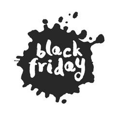 Black friday inside inky blot vector