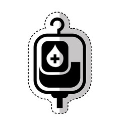blood bag isolated icon vector image