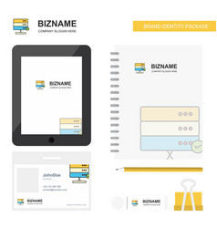 board business logo tab app diary pvc employee vector image