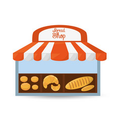 Bread shop store product vector