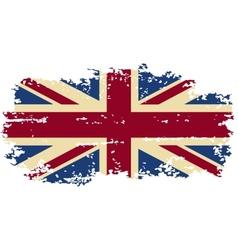 British grunge flag vector image