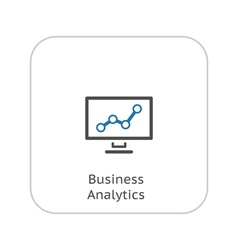 Business Analytics Icon Business Concept Flat vector