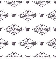 California surfing monochrome seamless pattern vector
