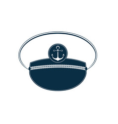 Captain hat icon sailor cap marine outfit vector