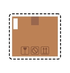 carton box icon vector image