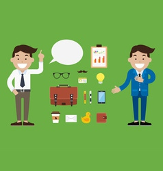 Character Businessman vector image