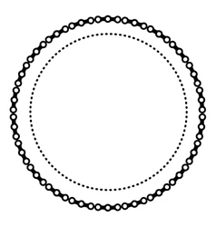 Circle badges icon vector
