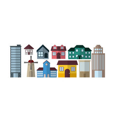 City buildings collections vector