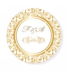 Classic Golden Round Lace invitation vector image