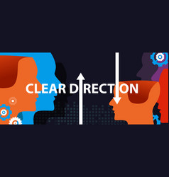 Clear direction concept leadership head vector