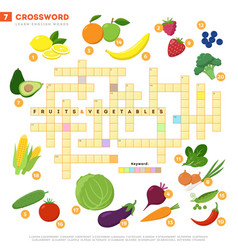 crossword with huge set of and vector image