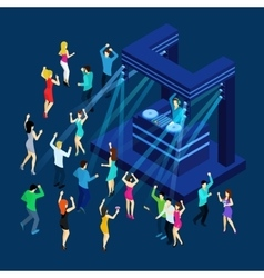 Dancing People Isometric vector