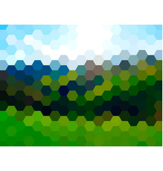 defocused summer landscape background vector image