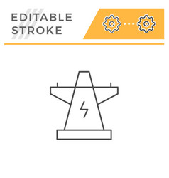 Electric power tower line icon vector