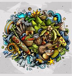 figi hand drawn cartoon doodles vector image