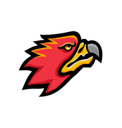 Firebird head mascot vector