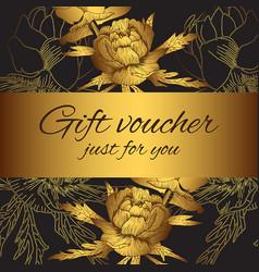 gift voucher flower silhouettes vector image