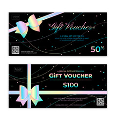 Gold theme gift voucher certificate coupon vector