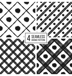 Grunge seamless pattern of black white diagonal vector
