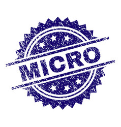 Grunge textured micro stamp seal vector