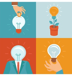 idea concepts in flat style vector image