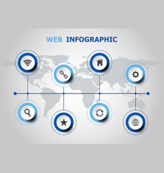infographic design with web icons vector image