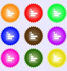 Infographic icon sign A set of nine different vector image