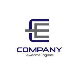 letter ce logo vector image