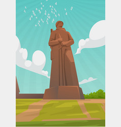 May 9 is a russian holiday summer sky landscape vector