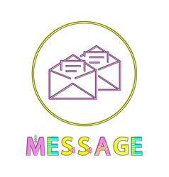 Message mails in envelopes vector