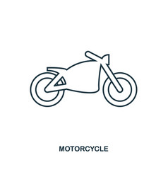 motorcycle icon outline style icon design ui vector image