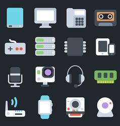 Multimedia flat icons vector