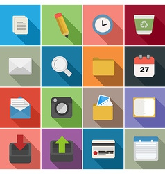 Office flat icons set design vector
