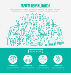 orthopedic and trauma rehabilitation concept vector image