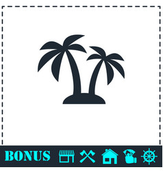 palms icon flat vector image