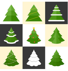 Pine icons set vector