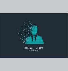pixel art avatar logo vector image