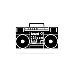 portable cassette player radio icon concept vector image