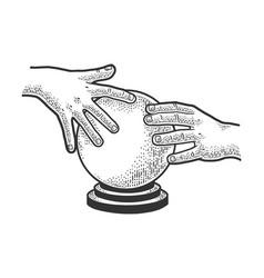 predictor magic crystal ball sketch vector image