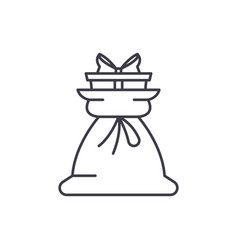 present bag line icon concept present bag vector image