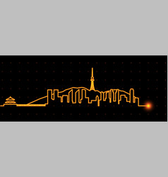 qingdao light streak skyline vector image
