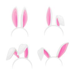 rabbit ears easter bunny isolated headband vector image