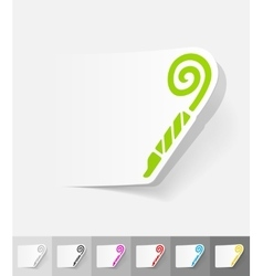 realistic design element party horn vector image