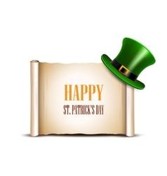 Saint Patrick Day card design vector image