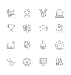 science symbols monoline pictures of vector image