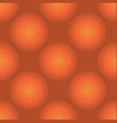 seamless art abstract mosaic orange circles vector image
