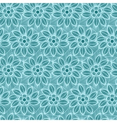 Seamless flower lace made of lines vector image