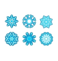 Snowflakes for winter design vector image
