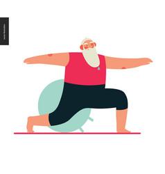 Sporting santa - yoga vector