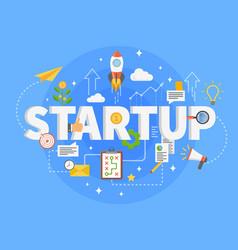 startup development composition vector image